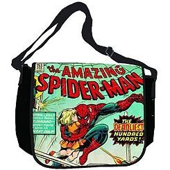 Comic Print Spider-Man Messenger Bag