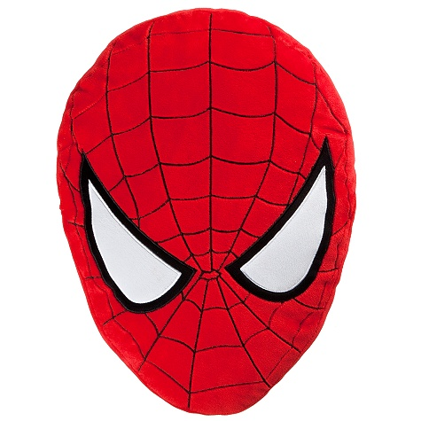 Spider-Man Plush Head Cushion Pillow -- 18'' H
