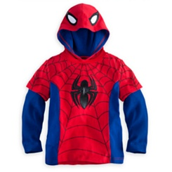 Spider-Man Long Sleeve Hoodie Tee for Boys