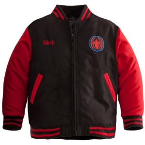 Personalizable Spider-Man Varsity Jacket for Boys