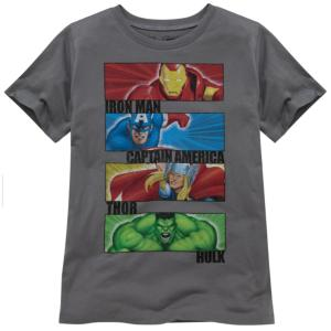 Gray Marvel Universe Tee by Mighty Fine for Boys