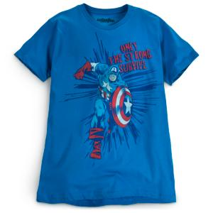 Classic Captain America Tee for Men by Mighty Fine