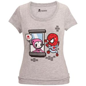 ''Spider Mon Amour'' Spider-Man Tee for Women by Tokidoki