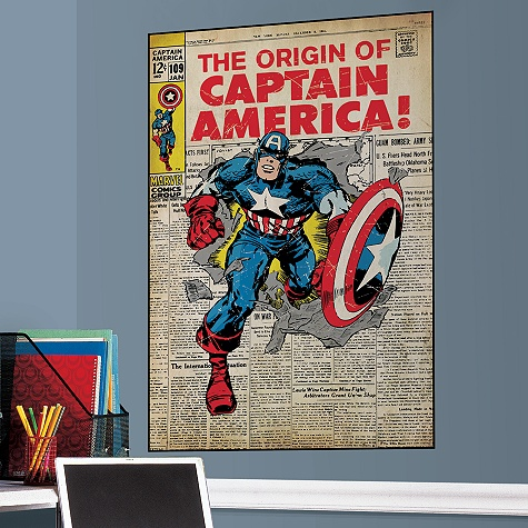 The Origin of Captain America Wall Graphic